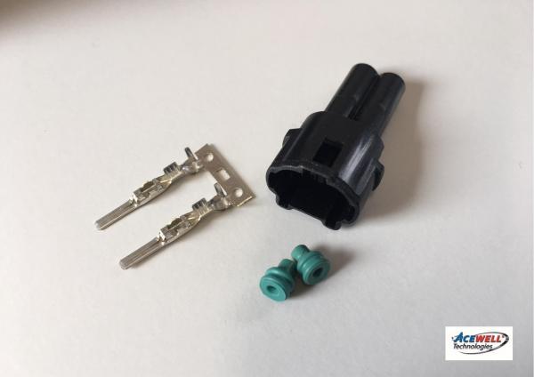 Set spina impermeabile bianco o nero (2 pin)