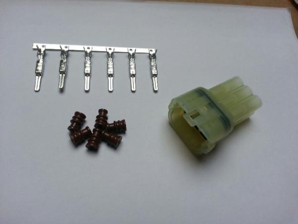 Set spina impermeabile trasparente (6 pin)