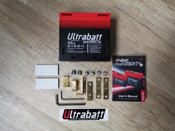 Ultrabatt multiMIGHTY 12V - 2,5A / 150CCA / 200PCA, simile a una batteria al piombo 8Ah